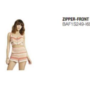 BCBGeneration Zipper-Front Bustier
